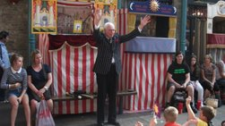 bryan clarke punch and judy puppets professor jingles